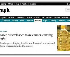 Friggere con oli vegetali può provocare il cancro